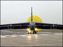 A B-52 landing