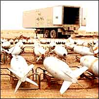 Iraqi chemical bombs awaiting destruction (Image: MOD)