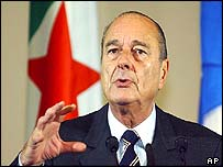 Jacques Chirac addressing the Algerian parliament