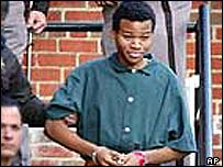 Lee Boyd Malvo in custody