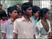 Former child soldiers in Sri Lanka