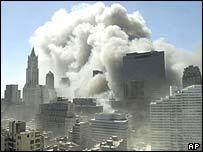 New York skyline, 11 September 2001