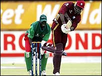 Chris Gayle batting in Kimberley