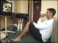 Marcus Trescothick watching Zimbabwe against Pakistan on Tuesday