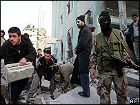 Palestinian gunman in Bureij refugee camp