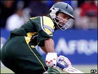 Saeed Anwar batting in Bulawayo