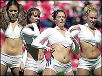 The Wigan Warbabes in action