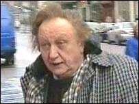Ken Dodd arriving at court in Preston