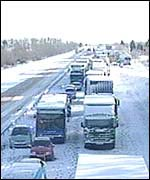 Drivers stuck on the M11