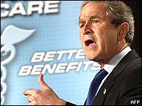 President Bush speaks at American Medical Association National Conference, Washington, 4 March 2003