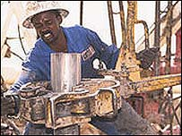 Sudanese oil worker