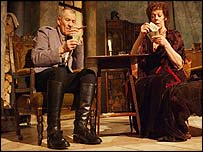 Frances de la Tour and Ian McKellen
