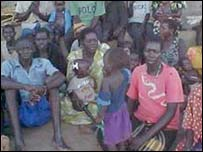 Refugees in camps in northern Uganda