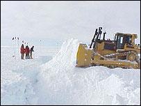 Bulldozer. Antarctic Sun/NSF