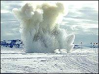 Explosion, Antarctic Sun/NSF