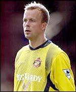 Sunderland goalkeeper Thomas Myhre