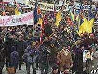 Protests in Kiev in 2002