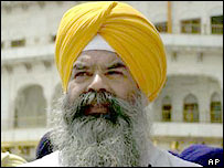 Sikh official at the Golden temple