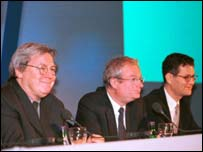 Alan Parker, Chris Smith and John Woodward