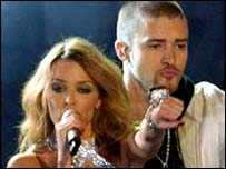 Kylie Minogue and Justin Timberlake