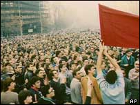 Demonstration for political change in 1989