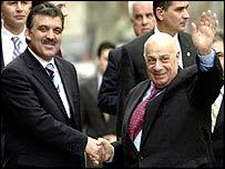 Abdullah Gul and Rauf Denktash