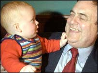 Prescott 'punched' by a baby