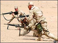 US soldiers training in Kuwait
