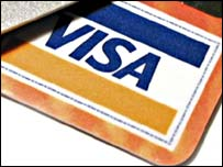 A visa card