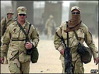 US soldiers in Kuwait