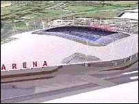 Graphic of the Arena complex, Coventry