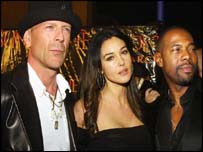 Bruce Willis, Monica Bellucci and Antoine Fuqua