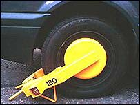A motorist has won a court battle over car clamping
