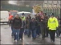 Youth protesters in Fairford