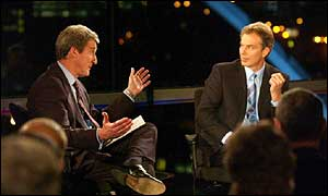 Tony Blair and Jeremy Paxman