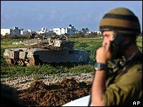Israeli soldier in the Gaza Strip on Friday
