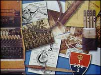 Equipment and badge of the Auxiliers