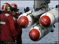 Cluster bombs on a US plane in the Gulf
