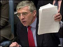 Foreign Secretary Jack Straw at the Security Council