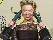 Renee Zellweger holds the best actress and best ensemble awards