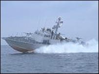 Sri Lankan navy's Dvora patrol craft