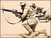 US troops training in Kuwait