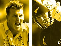 Brett Lee and Nathan Astle