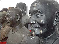 Old unwanted busts of former president Chiang Kai-shek