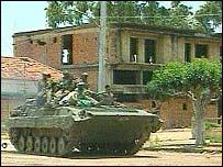 Tank in Angola