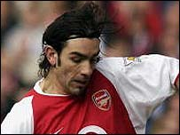 Robert Pires in action for Arsenal