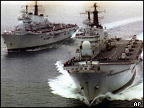 HMS Ark Royal and HMS Invincible