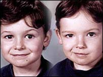 Brett Wilson, aged eight, and his seven-year-old brother Bradley