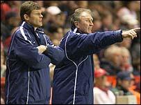 Steve Cotterill (left) and Howard Wilkinson