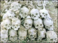 Skulls from Khmer Rouge Killing Fields